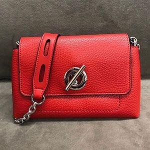 Sondra Roberts Red Pebble Toggle Handbag, NWT
